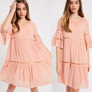 ISABELLE Midi Dress - BLUSH